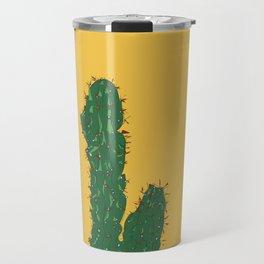 Cactus in Mexico City Illustrated Travel Mug