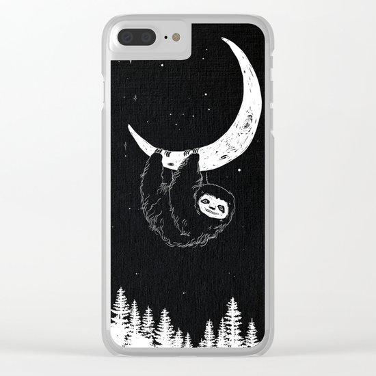 Goodnight Sloth Clear iPhone Case