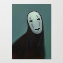 Noh Face Canvas Print