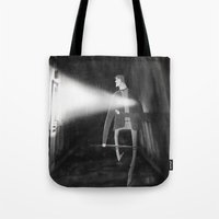 silent hill Tote Bags featuring James Sunderland from Silent Hill 2 by Peerro
