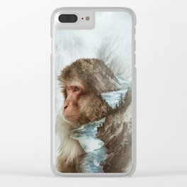 The Monkey River Clear iPhone Case