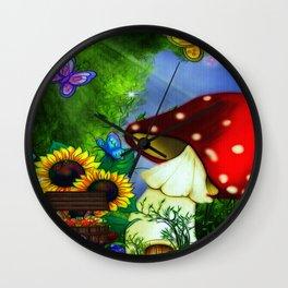 MuShroom Gully Fantasy Art Wall Clock