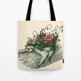 Sloth Garden Tote Bag