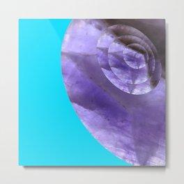 Light Blue Mystical Powers of Amethyst #society6 Metal Print