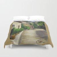 arab Duvet Covers featuring Arab Baths in Palma DP150724a by CSteenArt