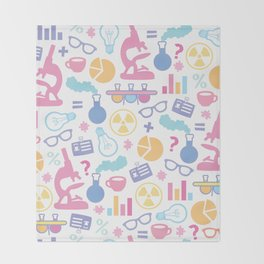 Pastel Science Pattern Throw Blanket
