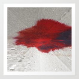 Extruded Blood Art Print