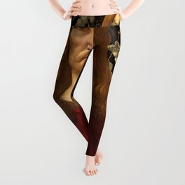 "Botticelli ""Christ as Man of Sorrows with a Halo of Angels"" Leggings"