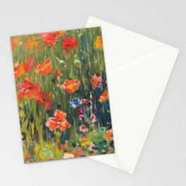 Poppies Painting by Robert William Vonnoh Stationery Cards