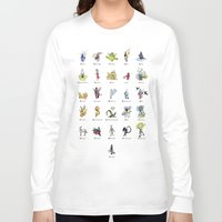 mythology Long Sleeve T-shirts featuring A-Z of Monsters & Mythology by James Courtney-Prior