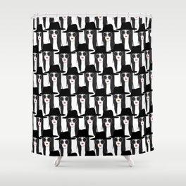 SELFIES Shower Curtain