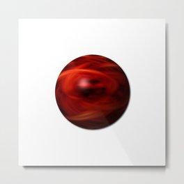 Red Fire Sphere Metal Print