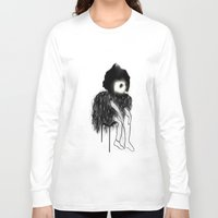clown Long Sleeve T-shirts featuring Clown by Maude Cournoyer