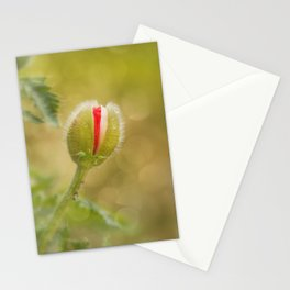 Bud of a large poppy Stationery Cards
