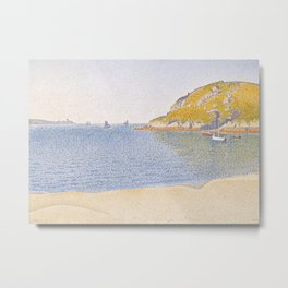 Port of Saint-Cast Metal Print