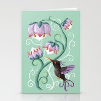 hummingbird Stationery Cards featuring Hummingbird by Freeminds