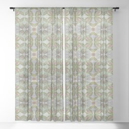 Coleus Quiet Gray Pattern Sheer Curtain