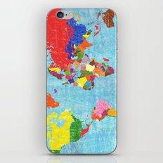 world map iPhone & iPod Skin