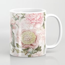 Vintage & Shabby Chic - Antique Pink Peony Flowers Garden Coffee Mug