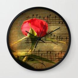 Vintage Love Story Symphony Wall Clock