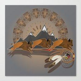 Native American Indian Buffalo Nation Canvas Print