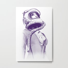 Space Woman Metal Print