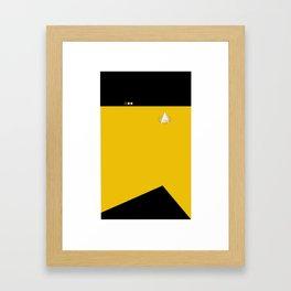 Star Trek: TNG Yellow Lt. Commander Uniform Framed Art Print