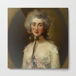"Thomas Gainsborough ""Portrait of Grace Dalrymple Elliott"" Metal Print"