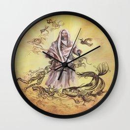 Jesus Christ and Religious Symbols Wall Clock