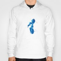 mega man Hoodies featuring Mega Man Splattery Design by The Daily Robot