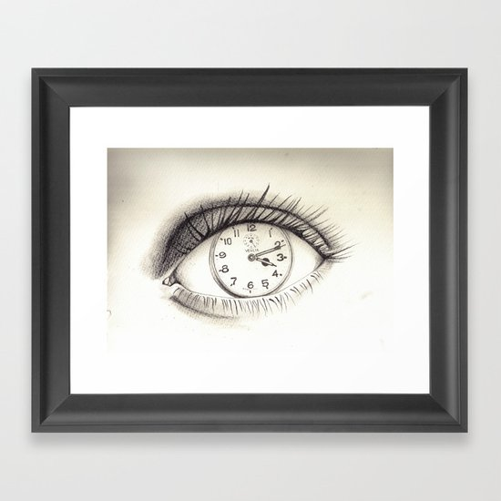 time-eye Framed Art Print