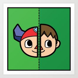 Old & New Animal Crossing Villager Comparison Art Print