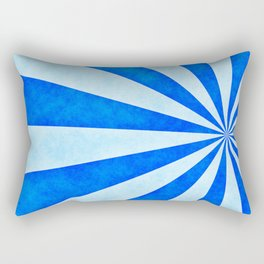 Blue sunburst Rectangular Pillow