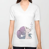 pills V-neck T-shirts featuring -Pills by Victoria Ripalda Tamame