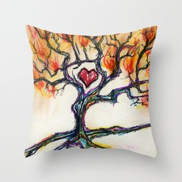 Ignited Throw Pillow