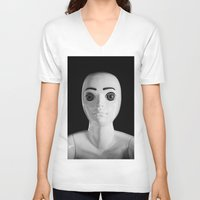 alien V-neck T-shirts featuring Alien by Adrian Evans