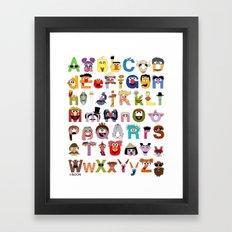 Sesame Street Alphabet Framed Art Print