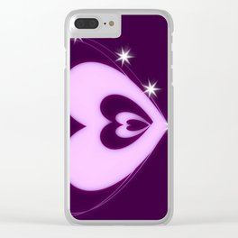 Butterfly of Love Clear iPhone Case