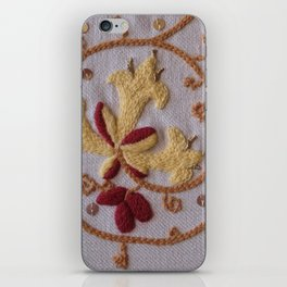 Elizabethan Embroidery Honeysuckle and Butterfly iPhone Skin