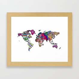 wonderful world Framed Art Print