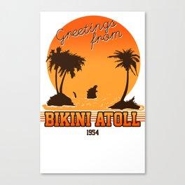 Greetings from Bikini Atoll Canvas Print