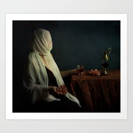 Lady justice with  pomegranate Art Print