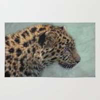 leopard Area & Throw Rugs featuring leopard by lucyliu