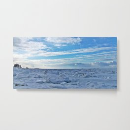 By the Frozen Sea Metal Print
