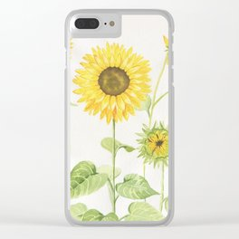 Sunflowers Garden Clear iPhone Case