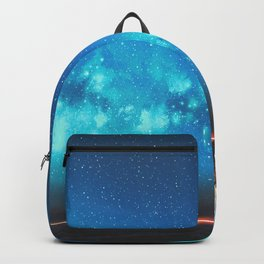 Fantasy Illustration Graphic Design Anime Japanese Inspired World Landscape 'Carrying My Thoughts' Backpack
