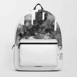Houston Skyline Black and White Backpack