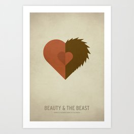 Beauty and the Beast Art Print