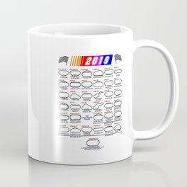 Schedule Nascar Cup Series 2019 Coffee Mug