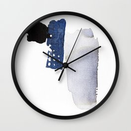 Navy Blue Abstract Wall Clock